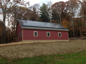 12kW solar system on roof. Next spring the hillside will be 30-40 blueberry bushes